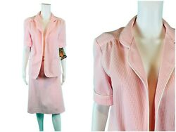 Vintage 1980s Pink Deadstock Florence Henderson Top And Skirt Set Outfit