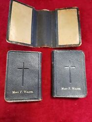 1881 Antique Book Of Common Prayer Common Prayer/ Hymnal Leather Set Of 2