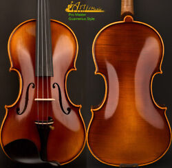 5star Pro Antique Guarnerius Style Violin 4/4 One Piece European Wood Power Tone