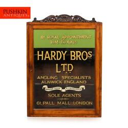 Antique 20thc English Angling Shop Display Cabinet Hardy Brothers C.1910