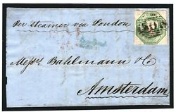 Gb Sg.55 Cover 1s Embossed Cover Rawtenstall Lancs 1851 Netherlands C£1900+ 160f