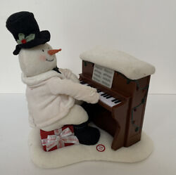 2005 Hallmark Jingle Pals Piano Playing Snowman Lights Sounds Only