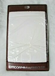 Vintage Hazel Citicorp Diners Club Brown Cowhide Leather Note Pad- Never Used