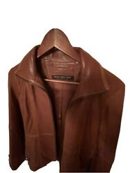 andrew marc leather jacket small $28.00