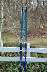 Vintage Fischer Crown Base Cross Country Touring Skis 205 Cm Austria