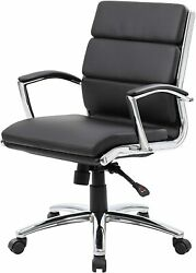 Boss Executive Caressoftplus Chair With Metal Chrome Finish - Mid Back