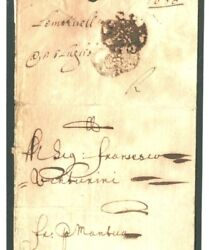 Gb 1670 Cover London Franches Rose Early Foreign Paid Letter Livorno Italy 39h