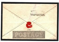 Gb Channel Islands Mulready 1d Cover Southampton Ship Letter 1841 Monmouth 110h