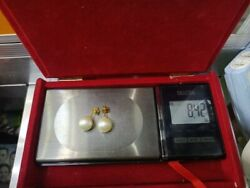 10mm South Sea Pearl Earrings Genuine. 18ct Gold Solid