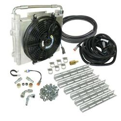 Bd Xtrude Transmission Cooler With Fan - Double Stacked Complete Kit 1/2in Lines