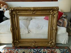 Beautiful Large Antique 19th Century Painting / Mirror Frame 22 X 27 Inches