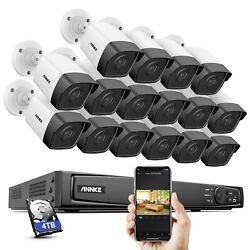 Annke 4k 8mp 16ch Nvr Poe Security Camera System Hd 5mp Video Outdoor Ip Network