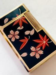 Beautiful Goods Genuine Lacquer Takamakie Dupont Gas Lighter Nanohana Dunhill