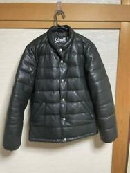Schott Leather Light Down Jacket Coat Sheepskin Tight Feather Menand039s From Japan