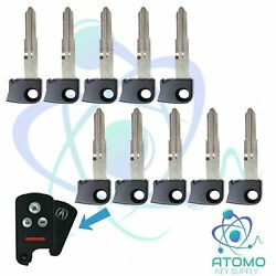 10 Pack New Uncut Insert Emergency Key Replacement For Acura Hd103 Without Chip