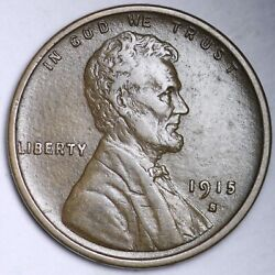 1915-s Lincoln Wheat Cent Penny Choice Au Free Shipping E174 Qfm