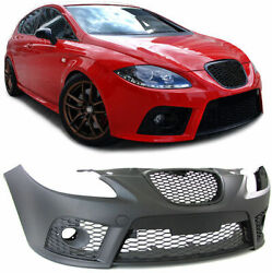 Cupra Style Front Sport Bumper With Grill For Seat Leon 1p 05-09