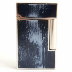 S.t.dupont Gas Lighter Ligne 2 Atelier Collection 75th Anniversary Blue Lg2184