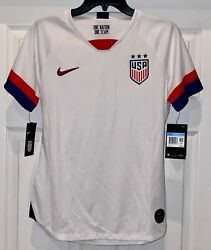 Nike Us Usa National Team 2019 White Stadium S/s Home Soccer Jersey Womens M L