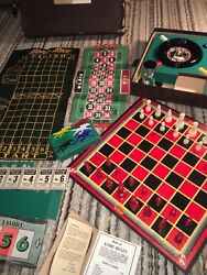 1944 Lowe Casino Gambling Game Set, Players Choice 8 Favorite Games Complete