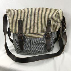 One Off Authentic Rrl Martingale Bag Deadstock Ticking Stripe Made In Italy