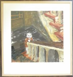 David Bowie Hand Signed Limited Edition Serigraph Child In Berlin 102 Of 450