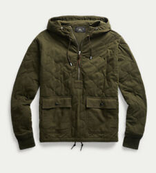 Rrl Men's Medium Quilted Jersey Sweater Hoodie Pullover