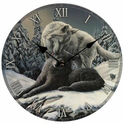 Snow Kisses - Wolf - Wall Clock - Lisa Parker - Brand New And Boxed