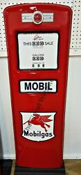 New Mobil Mobilgas Gas Pump Front Door Display Oil Replica - Free Shipping
