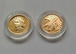 1988-w And 1987-w 5 U.s. Olympics/constitution Commemorative 2-gold Coins