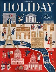 Holiday Magazine May 1948 Travel/photos/stories/ads - Paris/circus/left Bank