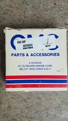 Evinrude Johnson Omc 0907885 End Cap And 907761 Gasket New Oem