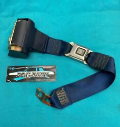 1978 - 1988 Gbody Rear Bench Seat Seatbelt Strap Blue For Parts Oem