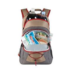 Coleman Food Drink Snack 28 Can Leak Proof Cooler Insulated Camping Backpack Bag $34.79