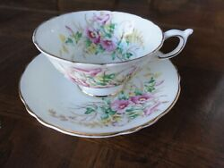 Paragon Bone China Teacup And Saucer Floral Gilt Double Sign By Appointment
