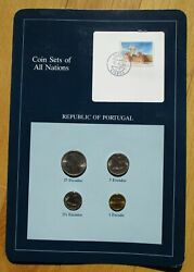 Coins Set Of All Nations - Republic Of Portugal - Set Of Four Coins And Stamp Mint