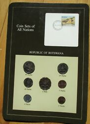 Coins Set Of All Nations - Republic Of Botswana - Set Of 7 Coins And Stamp Mint