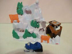 Fisher Price-rescue Heroes-avalanche Mountain-snowmobile-micro Adventures-2004