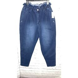 Paperbag Waist Jeans Size 12 Womens Medium Wash By Vintage America