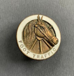 1920s Philadelphia Foot Traffic Mounted Horse Police Early Collar Disc Badge