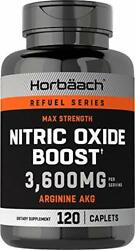 Nitric Oxide Booster 3600mg 120 Caplets Nitric Oxide Pills With Arginine Akg New