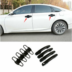 For 2018-2020 Honda Accord 10th Abs Black Outside Door Bowl Handle Cover Trim