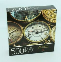 New Cardinal 500 Piece Puzzle Old Compasses 14 X 11
