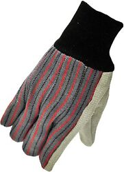 G And F 5015 Regular Cowhide Leather Palm Work Gloves For Driving And Construction