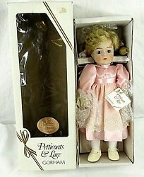 Gorham Musical Doll Petticoats Lace 5th Anniversary Bisque Vintage 1984