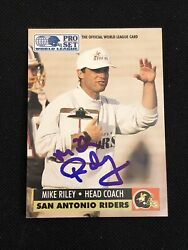 Mike Riley 1991 Pro Set Signed Autographed Card 30 Head Coach
