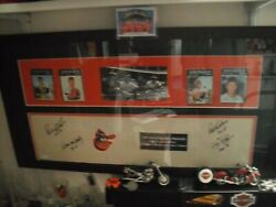 Framed And Matted 1971 Baltimore Orioles Four 20 Game Winners Pitching Rubber