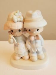 Precious Moments Figurine God Bless Our Family 1987