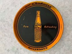 Confairs Beverages Metal Serving Tray - Nice Early Soda Advertising Piece 14andrdquo
