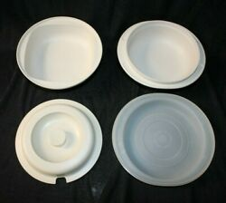 Tupperware Casserole 1547 1548 1748/50 Microwave Conventional Oven Cookware Lot